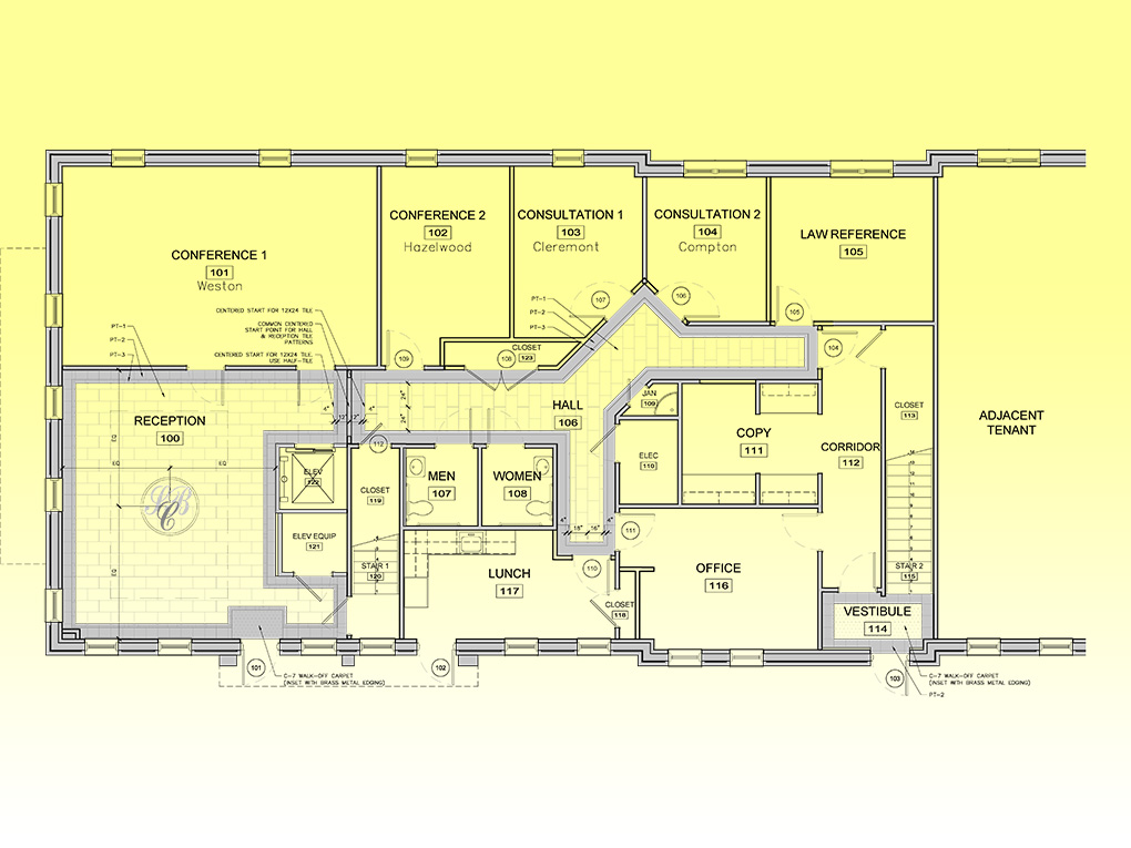 Law Office Floor Plan: Stewart Smith Studios