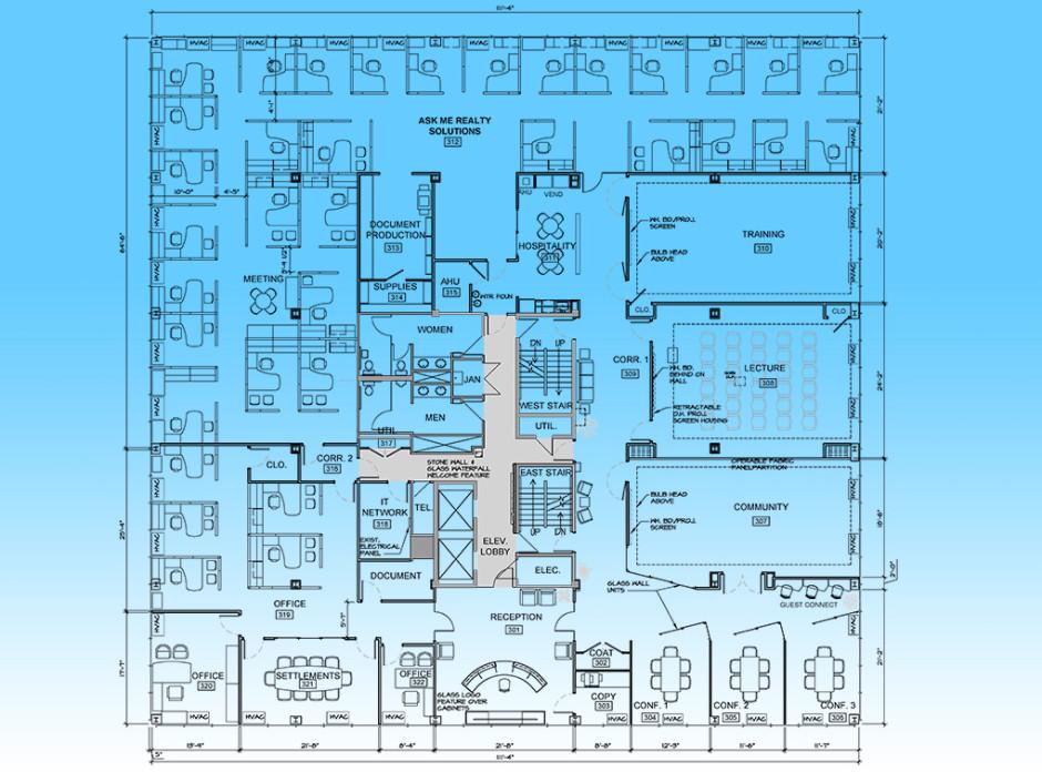 Real Estate Office Plan